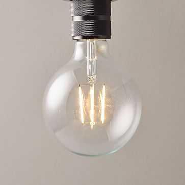 LED Light Bulb, Clear Large Globe - West Elm