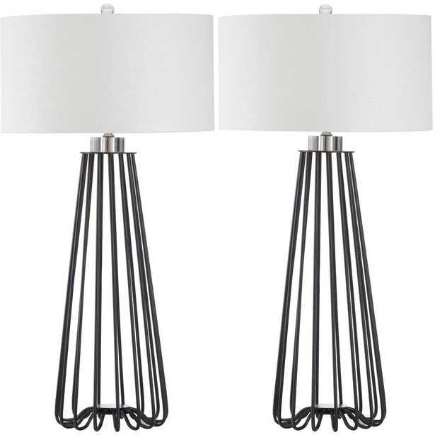 Safavieh Estill 33 in. Black Table Lamp (Set of 2) - Home Depot