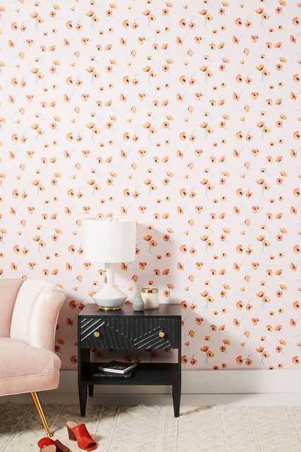 Poppy Wallpaper - Anthropologie