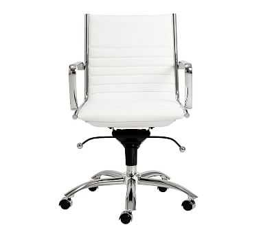 Fowler Low Back Desk Chair, White - Pottery Barn