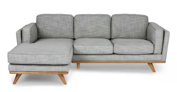Timber Pebble Gray Left Sectional - Article