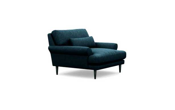 Maxwell Chairs with Indigo Fabric and Unfinished GunMetal legs - Interior Define