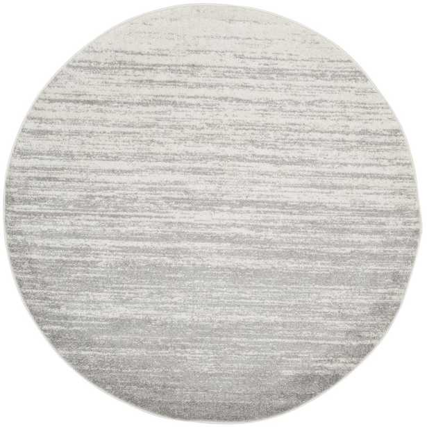 Adirondack Ivory/Silver 4 ft. x 4 ft. Round Area Rug - Home Depot