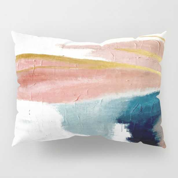 Exhale: A Pretty, Minimal, Acrylic Piece In Pinks, Pillow Shams - Standard Set of 2 - Society6