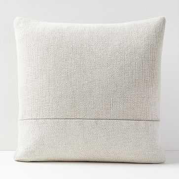 Cotton Canvas Pillow Cover, white - West Elm