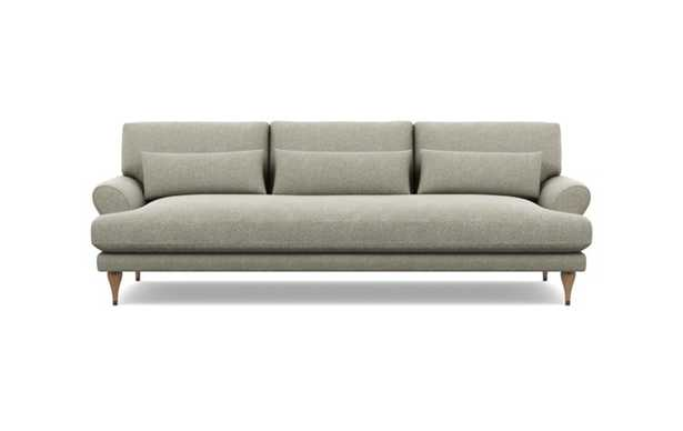 Maxwell Sofa with Brown Sesame Fabric and Natural Oak with Antique Cap legs - Interior Define