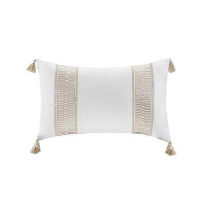 Anslee Embroidered Cotton Throw Pillow - Wayfair