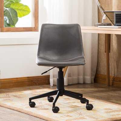 Alina Faux Swivel Air Lift Office Chair - Wayfair