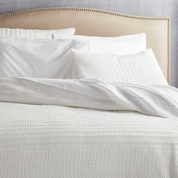 Doret White King Quilt - Crate and Barrel