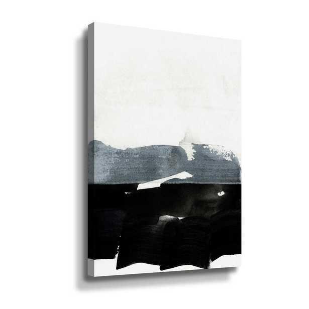 'BW 02' by Iris Lehnhardt Canvas Wall Art, Black - Home Depot