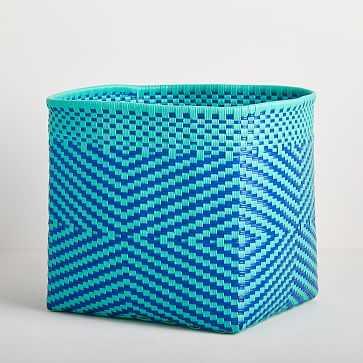 Alegre Basket, Blue, Large - West Elm