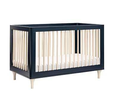 Babyletto Lolly Convertible Crib, black/Washed Natural - Pottery Barn Kids
