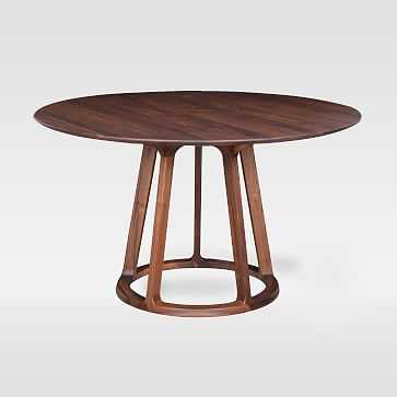 Open Pedestal Wood Round Dining Table - West Elm