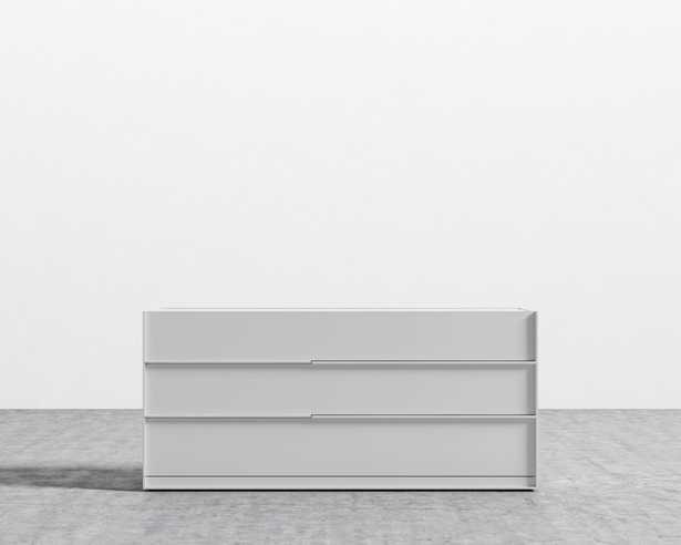 Hunter Wide Dresser - Glossy White Lacquer - Rove Concepts