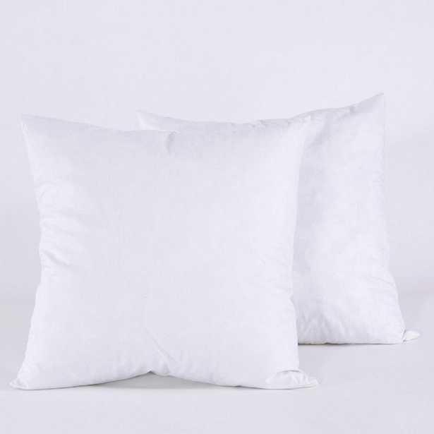 Puredown Feather Euro Pillow Insert, Euro (Set of 2), Puredown Feather Pillow Insert/Euro (Set Of 2) - Home Depot