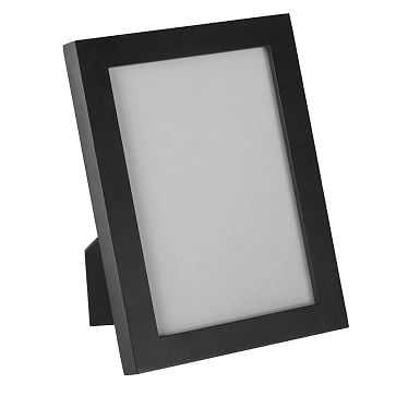 """Gallery Frame, 4""""x 6"""" (5"""" x 7"""" without mat), Black Lacquer - West Elm"""