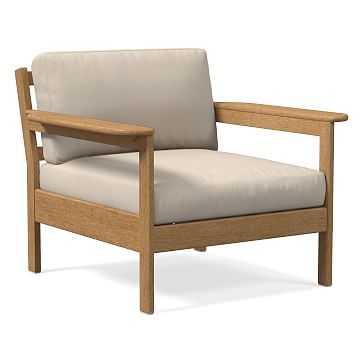 Playa Lounge Chair Cushion Cover Cast Pumice - West Elm