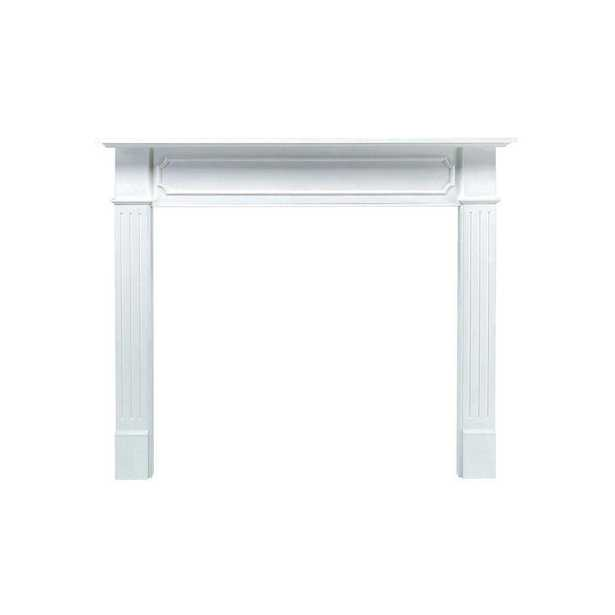 Pearl Mantels Berkley 62 in. x 52 in. MDF White Full Surround Mantel - Home Depot