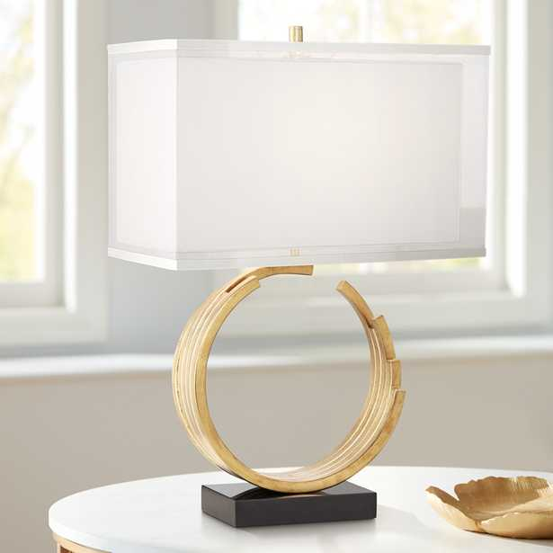 Riley Gold Leaf Table Lamp - Style # 43D90 - Lamps Plus