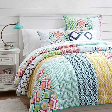 Palm Springs Patchwork Quilt, Multi, Twin - Pottery Barn Teen