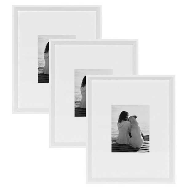 Calter 16x20 matted to 8x10 White Picture Frame (Set of 3) - Home Depot