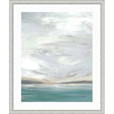 'Seafoam Vista I' Framed Graphic Art Print - Wayfair