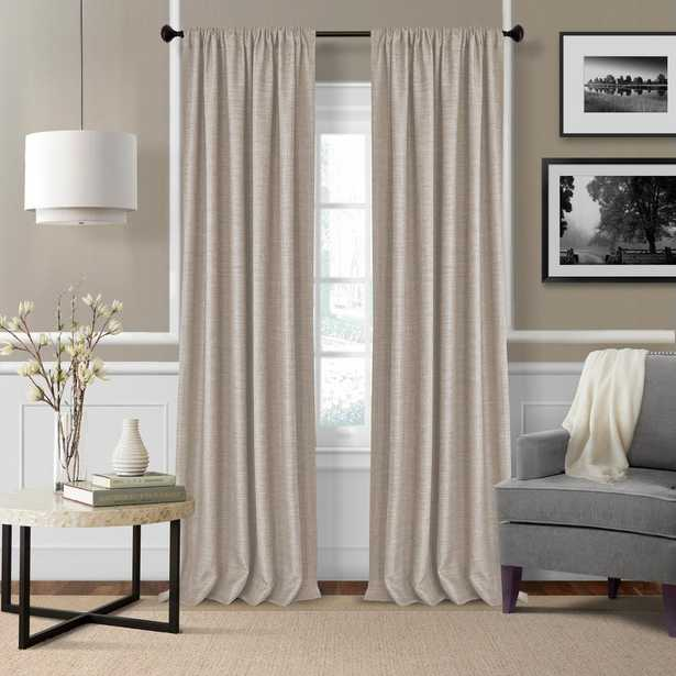 Elrene Home Fashions Elrene Pennington 52 in. W x 84 in. L Polyester Window Curtain Panel in Linen (Set of 2) - Home Depot