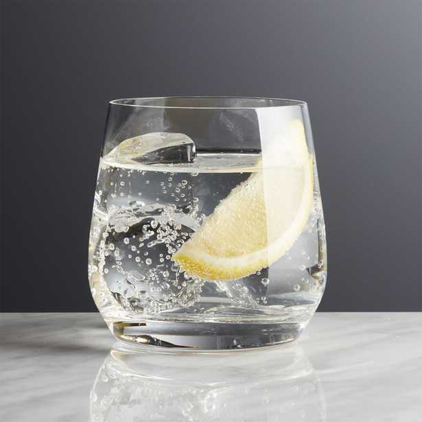 Hip Double Old-Fashioned Glass - Crate and Barrel