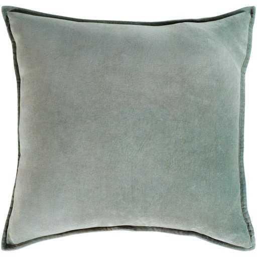 """Cotton Velvet - 20 x 20"""" poly insert - Neva Home"""