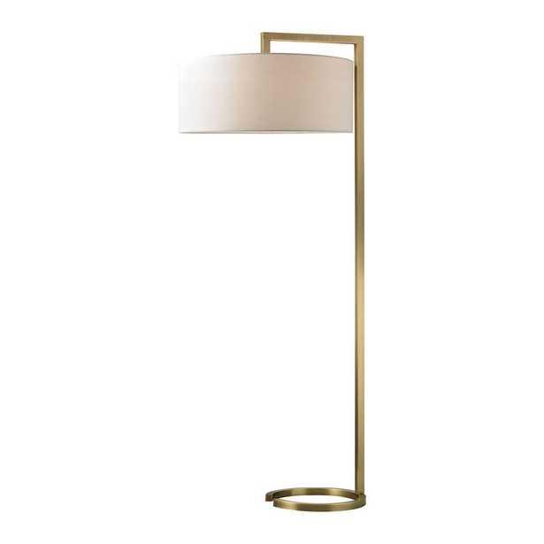 Titan Lighting Ring Base 60 in. Antique Brass Floor Lamp - Home Depot