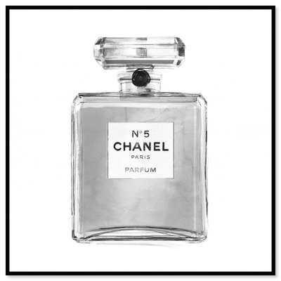 'Silver Classic Perfume' Graphic Art Print on Canvas - Wayfair