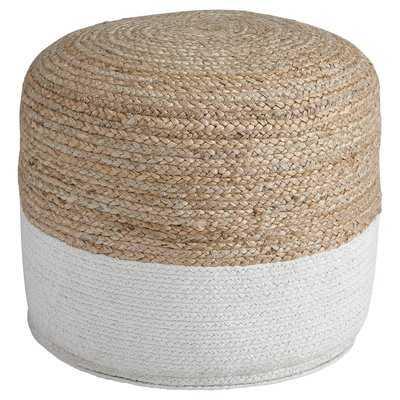 "Michaela 20.5"" Round Striped Pouf Ottoman - Wayfair"