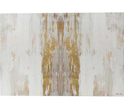 'Sensation White Abstract Art' Wrapped Canvas Print - AllModern