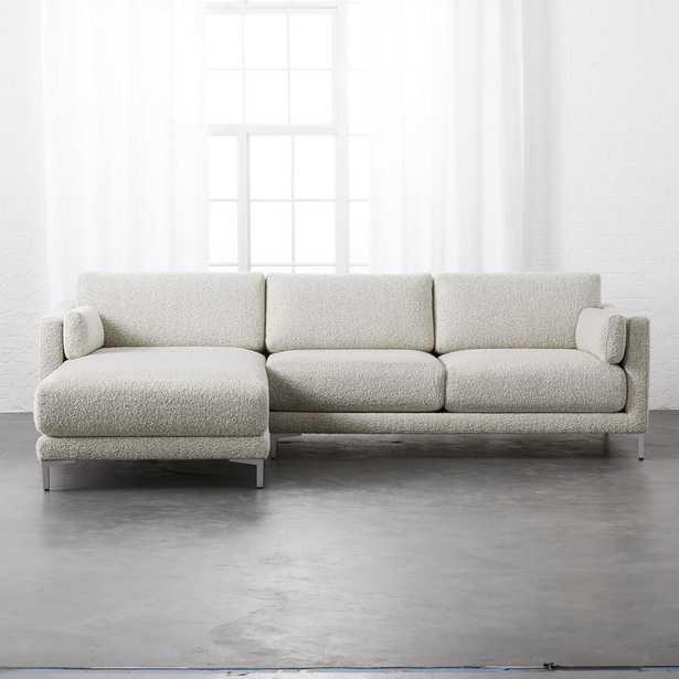 District 2-Piece Grey Sectional Sofa - CB2
