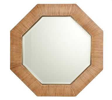 Sarah Bartholomew Octagonal Rattan Mirror - Pottery Barn