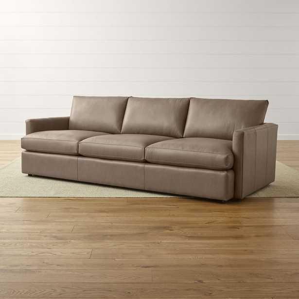 "Lounge II Petite Leather 3-Seat 105"" Grande Sofa - Crate and Barrel"