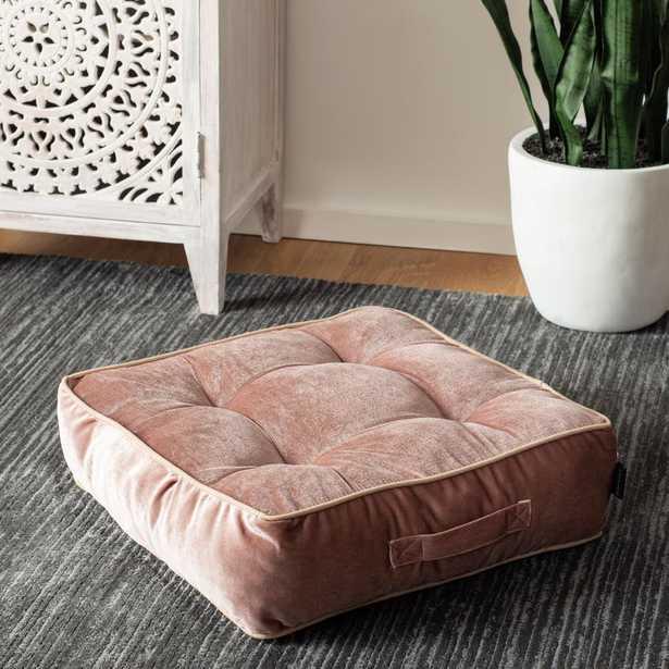 Safavieh Primrose 18 in. x 18 in. Polyfill Square Floor Pillow, Light Purple - Home Depot