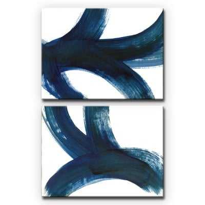 'On the Move I/II' 2 Piece Acrylic Painting Print Set on Wrapped Canvas - Wayfair