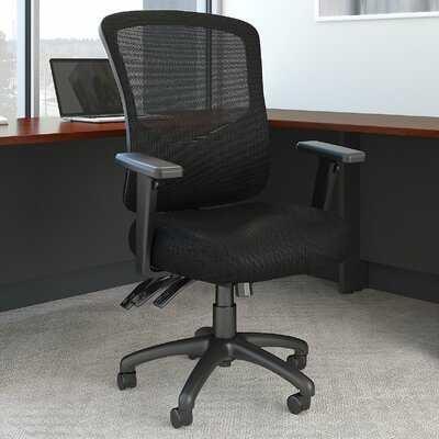 Bush Business Furniture Custom Comfort High Back Mesh Executive Office Chair in Black in , High Back Multifunction - Wayfair