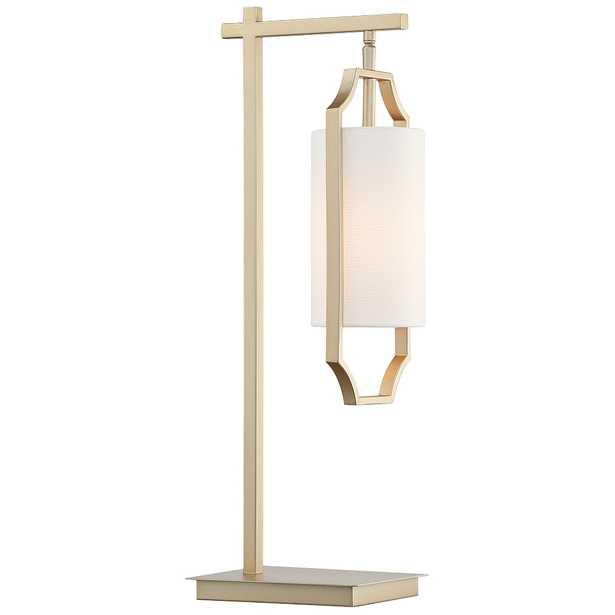 Lite Source Lenore Light Gold Hanging Lantern Desk Lamp - Style # 69T91 - Lamps Plus