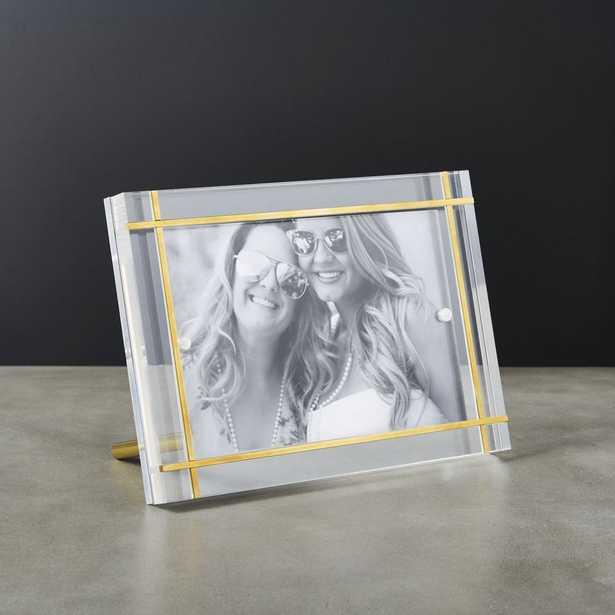 "Stella Brass Inlay Acrylic Photo Frame 4""x6"" - CB2"