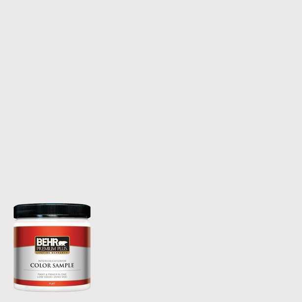 BEHR Premium Plus 8 oz. #W-D-620 Pale Bud Flat Interior/Exterior Paint and Primer in One Sample, Grays - Home Depot