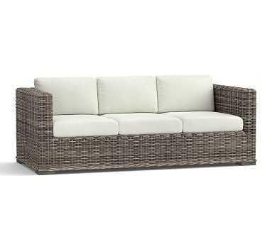 Huntington Sofa Cushion Slipcover (Square Arm Sofa) - Sunbrella(R) Natural Sunbrella - Pottery Barn