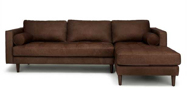 Sven Charme Chocolat Right Sectional Sofa - Article