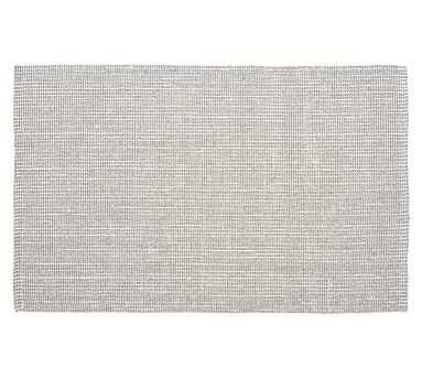 Chunky Natural Wool & Jute Rug, 5 x 8', Gray/Ivory - Pottery Barn