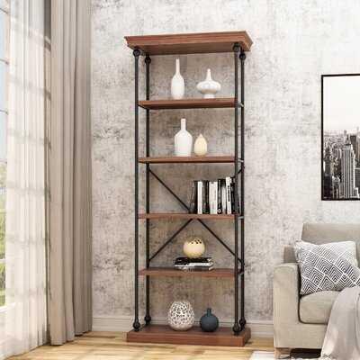 Goodnight Industrial 5 Shelf Firewood Etagere Bookcase - Wayfair