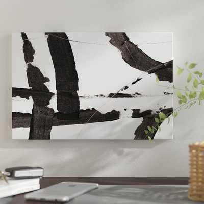 'Obsidian Harmony I' Print on Canvas - Wayfair