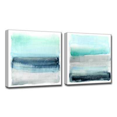 'Linear Energy I/II' 2 Piece Painting Print on Wrapped Canvas Set - Wayfair