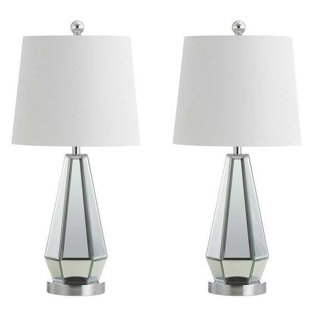 Safavieh Chiara 25 in. Silver Table Lamp (Set of 2) - Home Depot