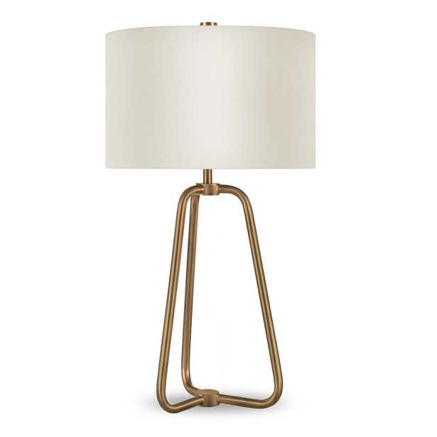 Hudson&Canal Marduk 25-1/2 in. Brass Table Lamp - Home Depot